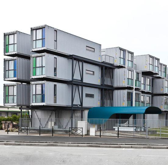 Péniche, Résidence universitaire A'Docks / Le Havre, 2013