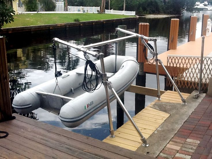 DIY Small Boat Davit | Wooden boat plans, Wood boat plans