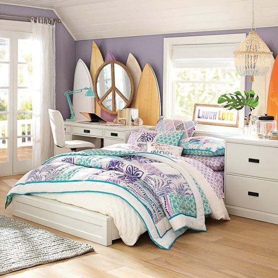 Bedroom Teenage Small Girls Room Purple Large Size: 25+ Best Ideas About Teal Beach Bedroom On Pinterest