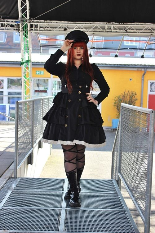 lolinspirations:  I finally made my Military Lolita Outfit!I...