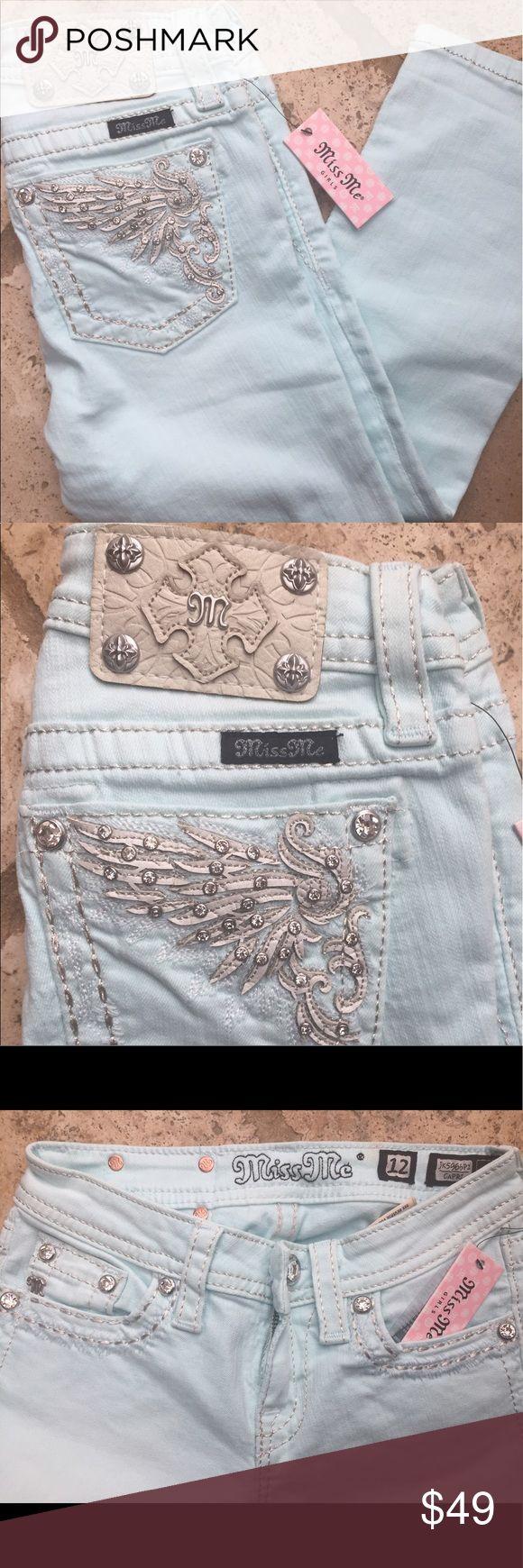 NWT Little Girls Miss Me Jean Capris Sz 12 New with tags - Little Girls Miss Me Jean - Capris - Sz 12 Miss Me Bottoms Jeans