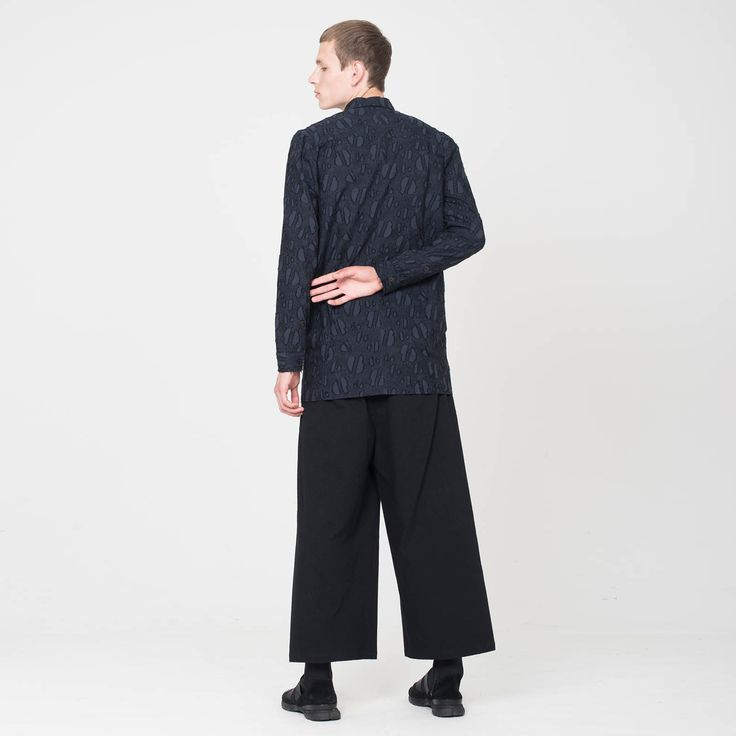 Michael is wearing a Shirt and Oversized Trousers from our AW17 Collection. Visit: damirdoma.com