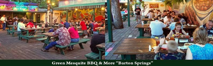 Live music on the patio at Green Mesquite