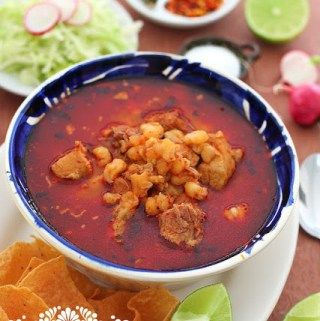 Nothing more Mexican than a Pozole ! This recipe is for a red pozole, even though in Mexico we also have white and green. Learn more...