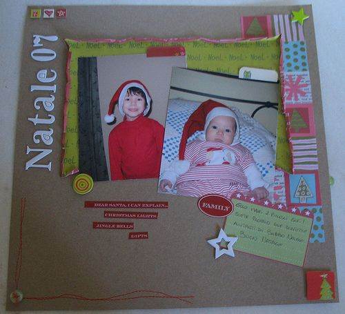 Layout scrapbooking Natale 07