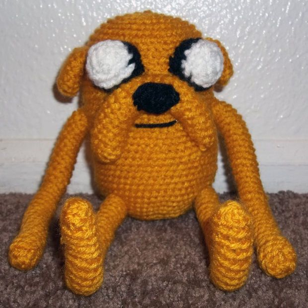 Amigurumi Adventure Time Jake. I really love this! Making this would complete my life, hahaha! And now his best friend finn the human!