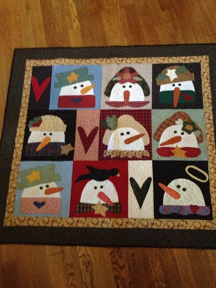 snowman quilts | Snowman quilt..... I love snowmen!!!' | Quilting Ideas