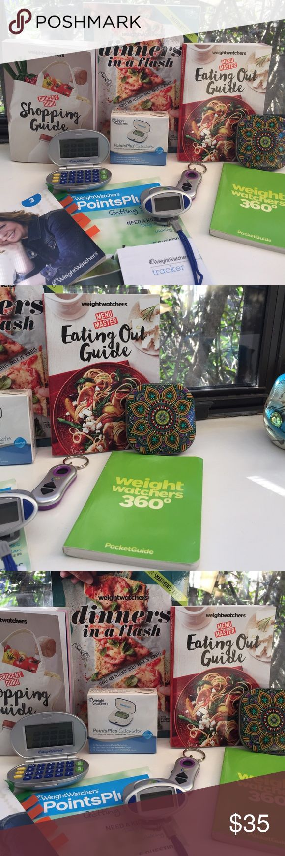 Weight Watchers Bundle 3 WEIGHT WATCHERS Books.....BRAND NEW.....never used!!!  3 points calculators.....1 still in box, one works and the other one needs a new battery....I think!  Also a pedometer and key chain that keeps up with points used through the day!  There are 3 other books 📚 from previous WW plans! Weight Watchers Other