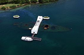 USS Arizona Memorial - Pearl Harbor, Hawaii - Family trip 2005