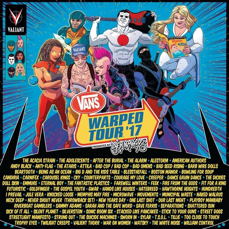2017 WARPED TOUR LINEUP #warpedtour #lineup #bands #2017 #metal #warped #summer