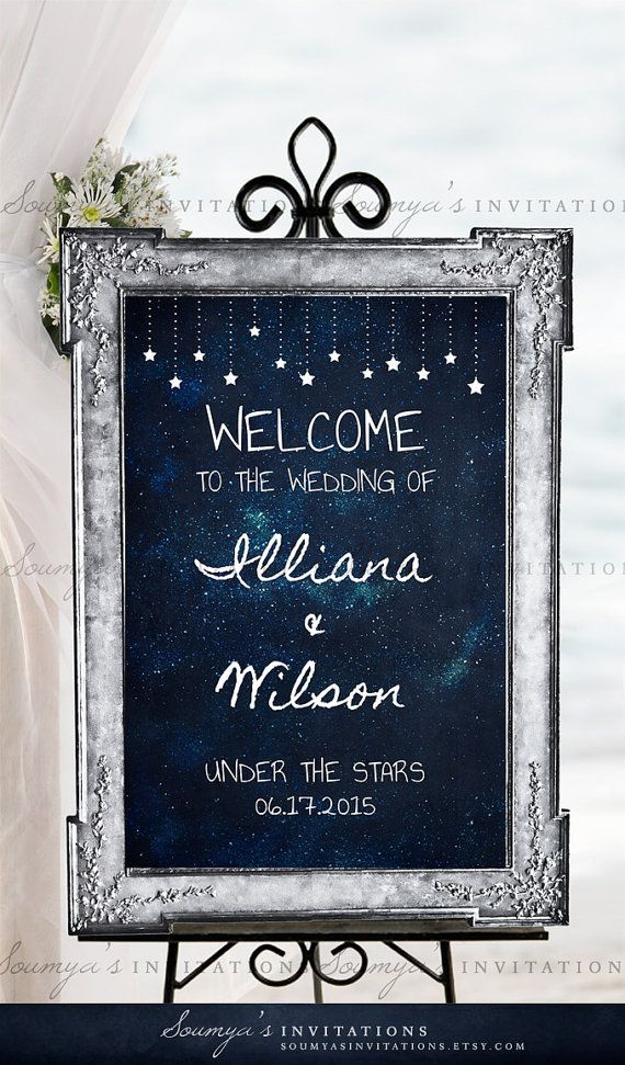 1000 Ideas About Starry Night Wedding On Pinterest Celestial Wedding Wedding Themes For