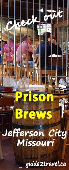 Pin for Prison Brews pub in Jefferson City, Missouri.