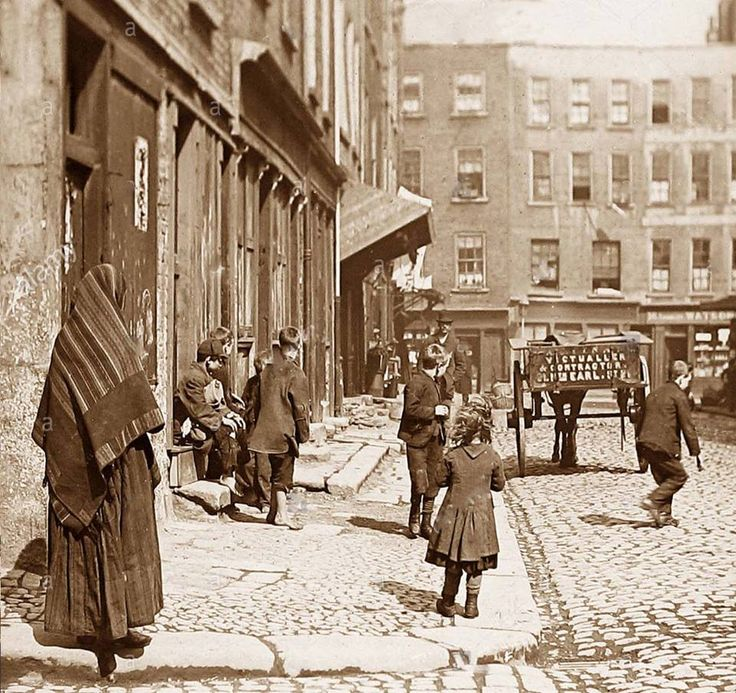 Dublin early 1900s. The photographer could possibly be standing at the junction of Little Britain Street and Campbells Court looking toward Capel Street