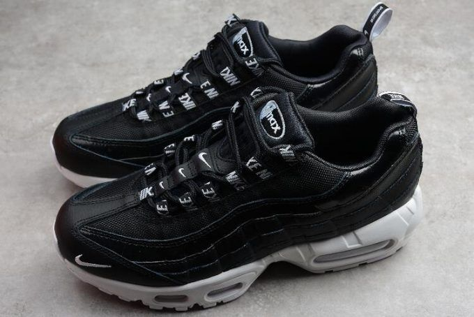 Mens Air Max 95 Overbranded Black White