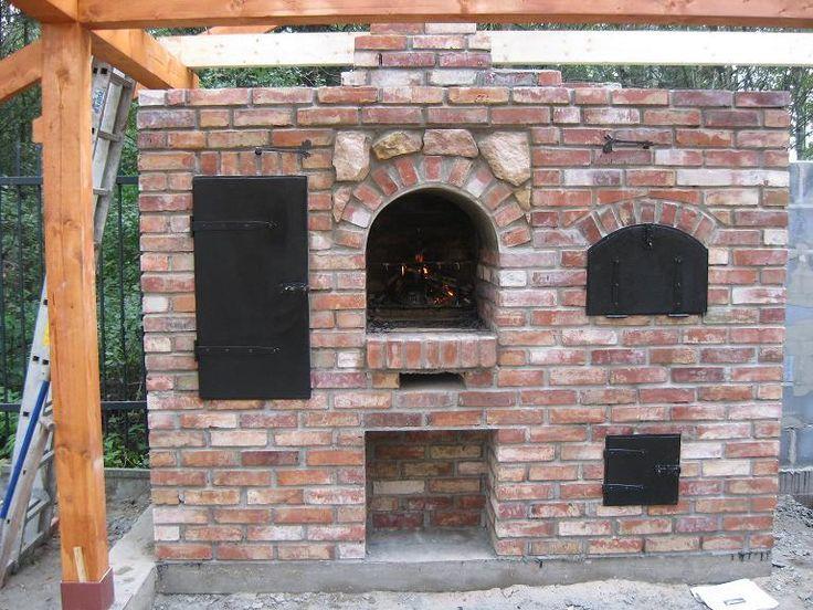 grill wędzarnia piec chlebowy  Smokers & Grills  Pinterest # Kuchnia Kaflowa Schemat