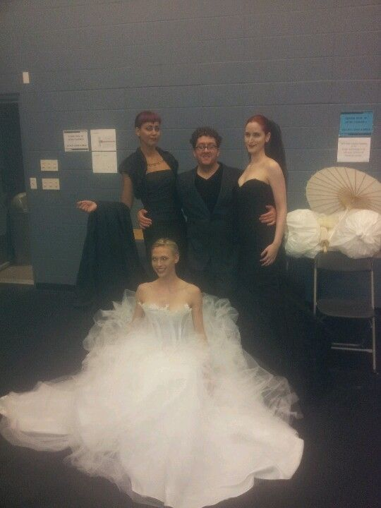 with a few of my beautiful models backstage