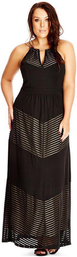 Macy's - City Chic Plus Size Dress with Chain Detail Neckline