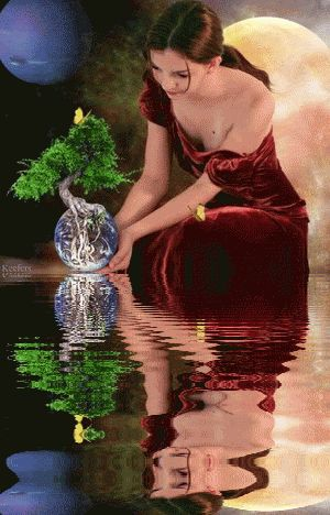 Fantasy, Water, Animation, Water Reflections, Water Reflection, Reflections, Animated Graphics, Animated Gif, Animated Gifs, Keefers gif by Keefers_ | Photobucket