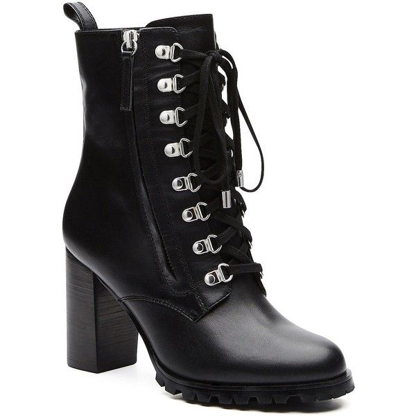 Witchery Hayden Hiker (250 AUD) ❤ liked on Polyvore featuring shoes, boots, metallic shoes, metallic boots, real leather boots, side zipper boots and genuine leather shoes