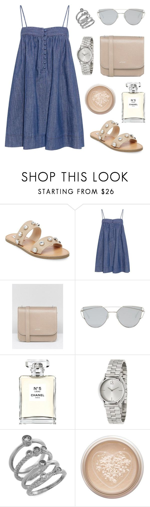 """""""Summer Fling"""" by tasha-m-e ❤ liked on Polyvore featuring Steve Madden, Apiece Apart, Matt & Nat, Gentle Monster, Chanel, Calvin Klein, Cole Haan and Too Faced Cosmetics"""