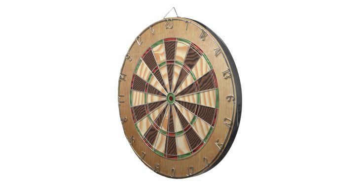 Rustic wood texture print dart board.