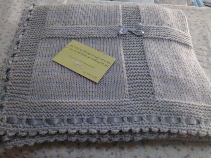 toca de lana gris hecha a mano | tocas para bebés | Pinterest