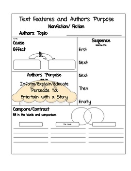 Easy as Pie...Author's Purpose FREE!: Task Cards