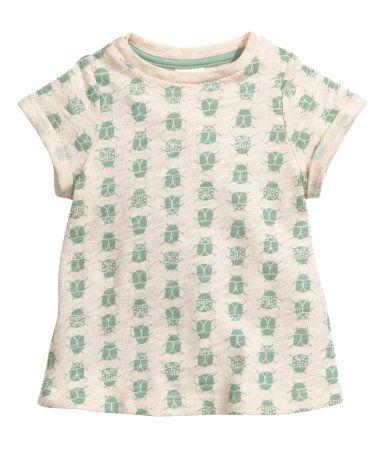 Mekko eläväpintaista trikoota | Vaaleanbeige/Leppäkertut | Lapset | H&M FI