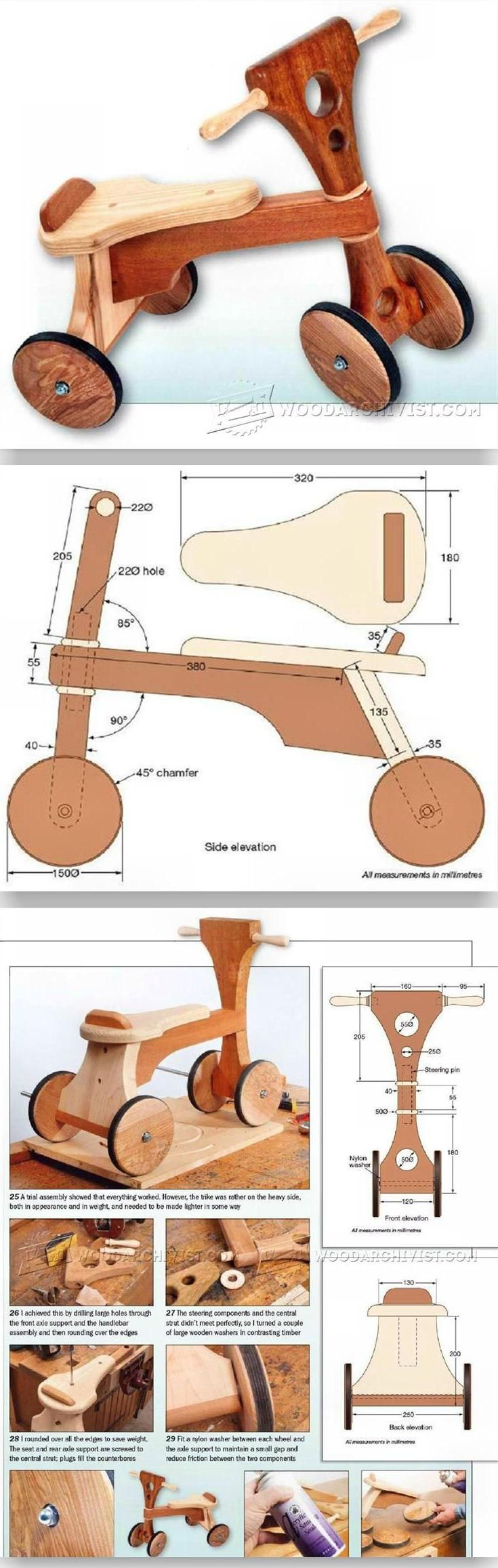 Wooden Tricycle Plans - Children's Outdoor Plans and Projects | WoodArchivist.com
