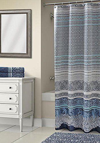 Croscill Classics Maxwell Navy Shower Curtain 72L x 72W in. (183cm x 183cm)  #Croscill