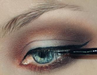 Elegancki makijaż z cieniowaniem typu banan