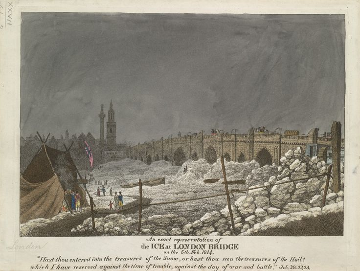 An Exact Representation of the Ice at London Bridge on the 5th Feb 1814