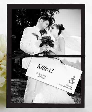 Just for Love, korkea kiitoskortti omalla kuvalla. http://shop.calligraphen.fi/