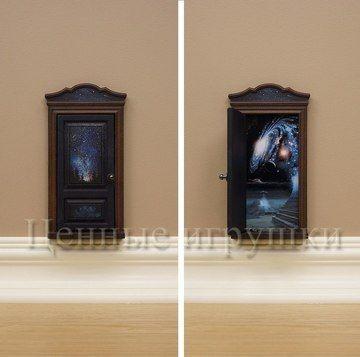 дверь феи, Fayri Doors дверка для феи сказочная дверь волшебная дверь волшебство дети маленькая волшебная дверка для феи или эльфа или другого сказочного существа, создаст атмосферу чуда и волшебства в комнате вашего ребенка. Miniature door. Миниатюрная дверка. Космические дали и звёздное небо.