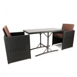 Polyrattan Sitzgruppe Tischset #garten #gartenmöbel #rattan #polyrattan #sitzgruppe #gartentisch #estexo