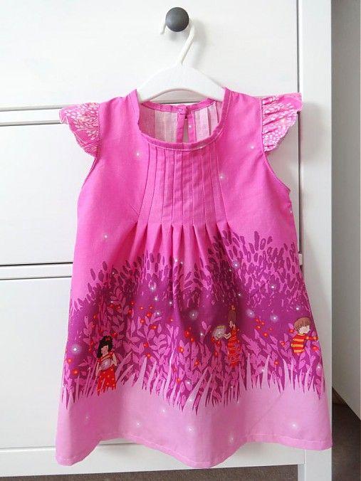 Šaty Summer Night Lights, veľkosť 98 by makovicka.. - SAShE.sk - Handmade Detské oblečenie,                Fabric - Sarah Jane, Wee Wander