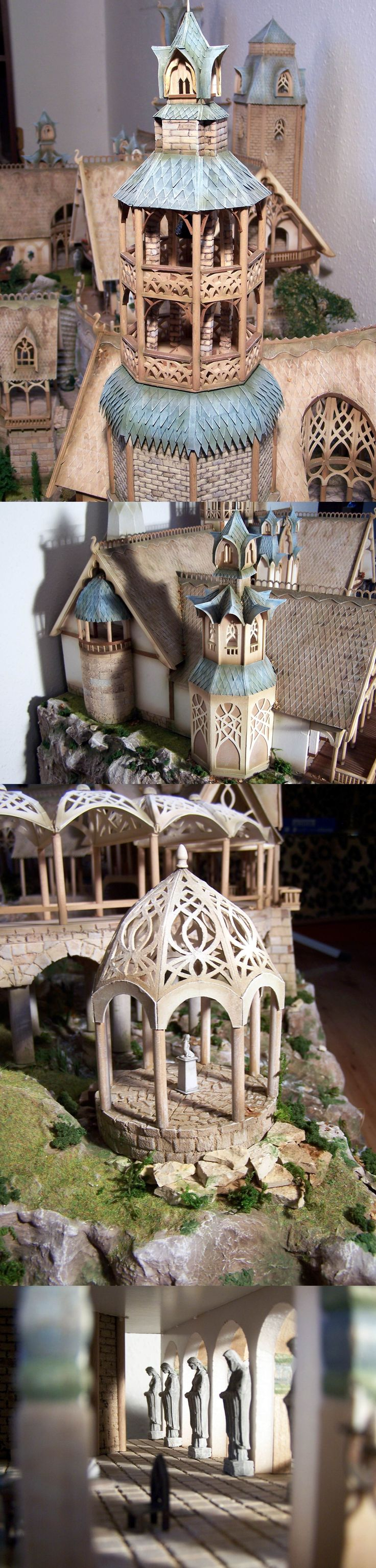 Rivendell, House of Elrond miniature, built from scratch with 1000 working hours. (ARTISTIC NERD WIN)