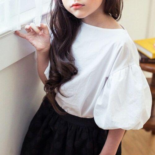b4eac099577d3 TinyPokke  s selection バルーンスリーブブラウス-Tシャツ- 女の子 男の子 海外セレブ -