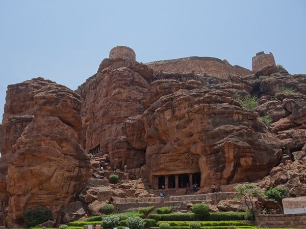 Badami cave temple in Karnataka, India. It is.  about 300 kms North East to Badami in the district of Gulbarga in Karnataka, South India. Created in (566-597 AD)