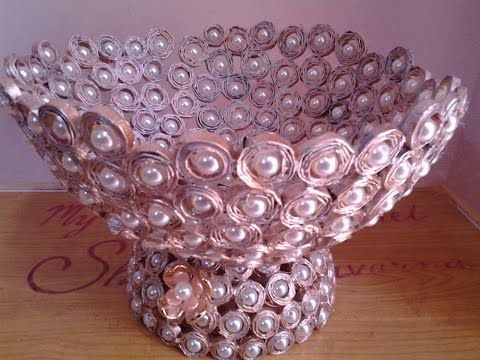 Best Out Of Waste Paper Centre Piece - YouTube