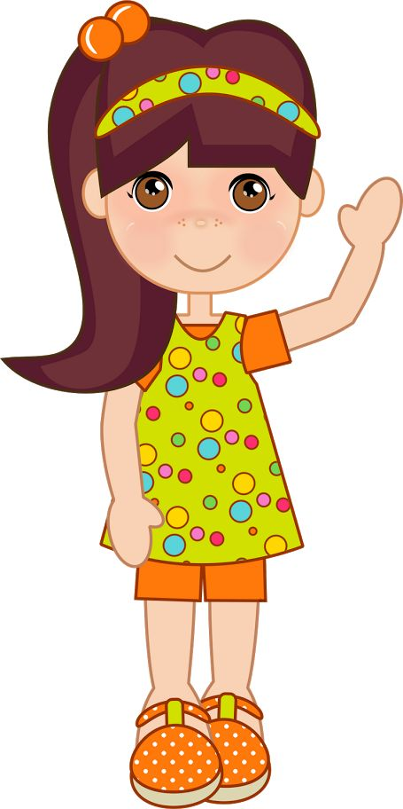 big girl clipart
