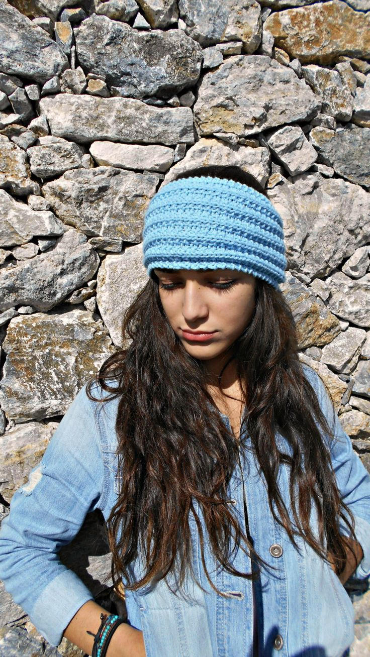 Knitted Headband, cashmere merino ear warmers, free spirited travel heirband for boho girl, outdoor hiking, gift for daughter birthday  gift by LAlabastroCreazioni on Etsy