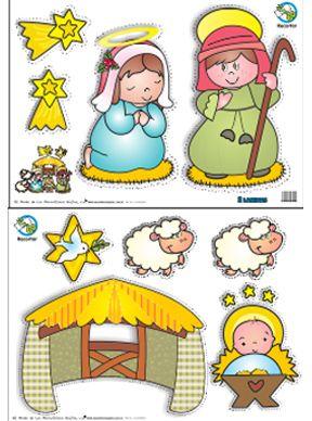 El Mundo de Los Maravillosos Bajitos, Educación Inicial - Afiche Nacimiento Recortable Grande