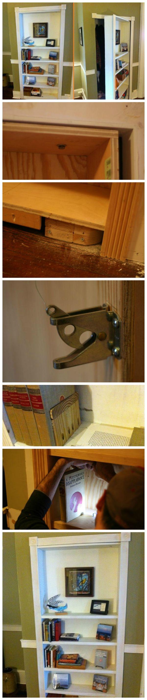 DIY Bookcase Secret Door