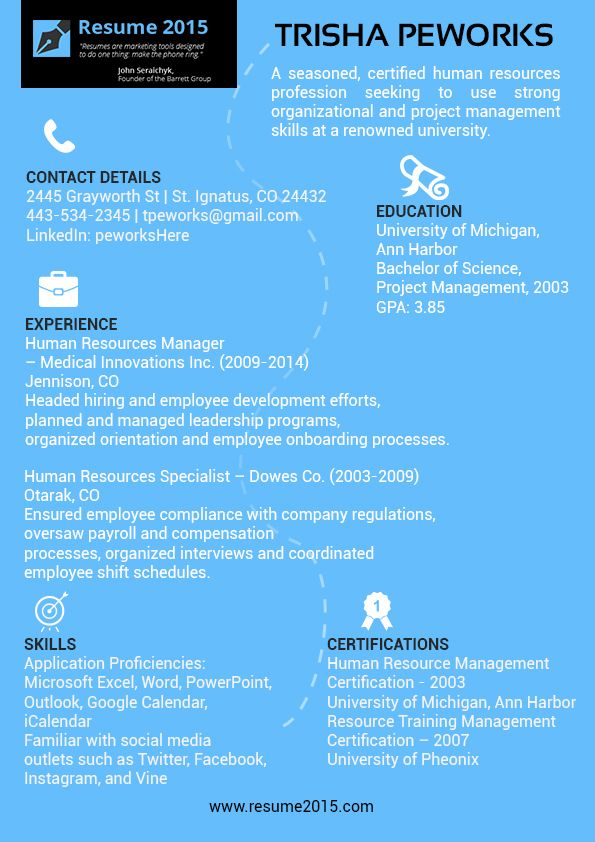 19 best Resume 2015 images on Pinterest Sample resume, Best - primer resume templates