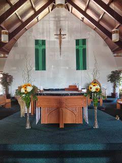 Large Sunflower and Hydrangea Church Arrangements