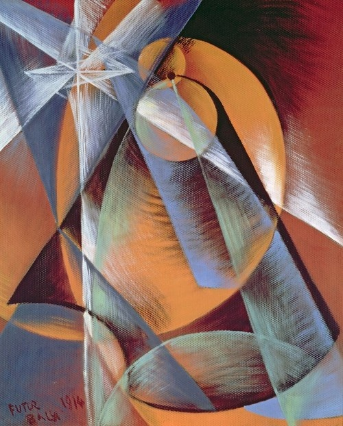 Giacomo Balla, 1914, Planet Mercury Passing in Front of the Sun #art #painting