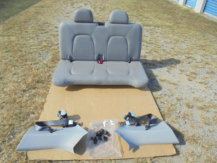 UP FOR SALE IS A NICE USED LIGHT GREY LEATHER 3RD ROW REAR BACK SEAT FOR THE 2002 TO 2005 FORD EXPLORER 4 DOOR SUV AS SEEN HERE WITH NO CUTS OR RIPS OR WEAR JUST LIGHT MARK IN THE REAR CARPET GREAT 3RD CONVERSION AS SEEN HERE WITH BELTS AND HARDWARE TO INSTALL THIS SEAT AS SEEN HERE WITH THE BAG OF BOLTS.   eBay!