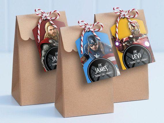 Vengadores Polo bolsa etiquetas imprimible por MontyandMeShop