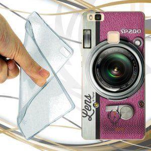 CUSTODIA COVER CASE FOTOCAMERA ROSA PER HUAWEI P9 LITE